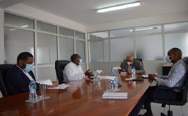Visita de cortesia do Presidente das Aldeias SOS em Cabo Verde